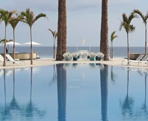 pool ocean los cabos wedding